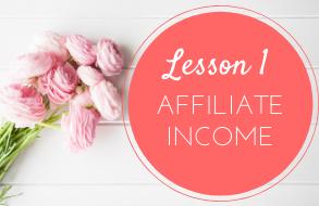 lesson 1 affiliate income