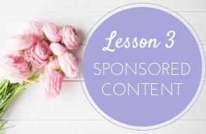 lesson 3 sponsored content
