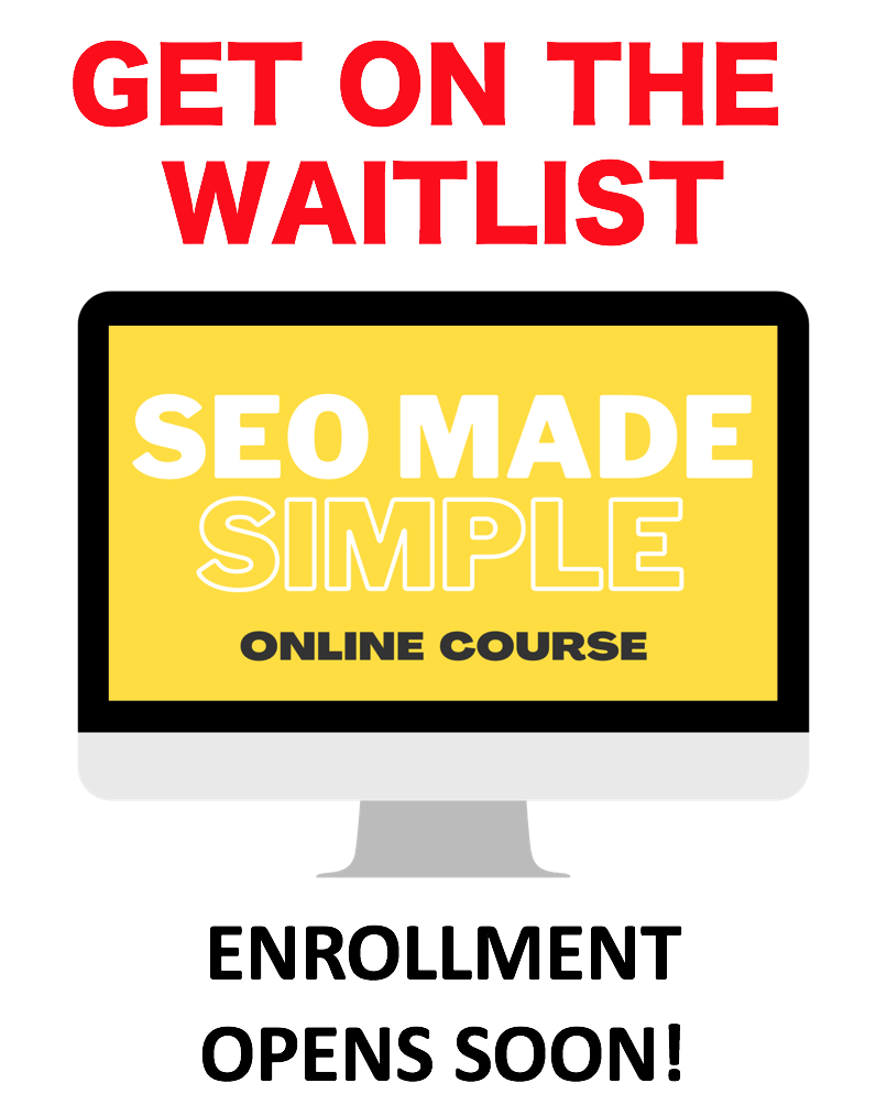 SEO Made Simple Waitlist